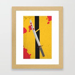 KILL BILL Tribute Framed Art Print