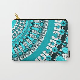 Aquamarine Rays Carry-All Pouch