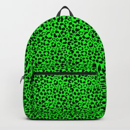 Black and Green Leopard Print Backpack