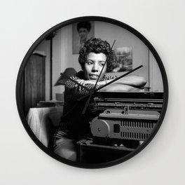 Lorraine Hansberry - Black Culture - Black History Wall Clock