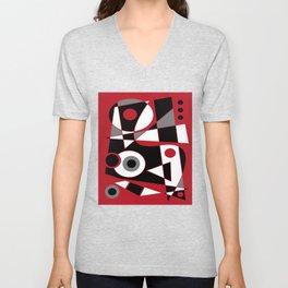 Abstract #505 Unisex V-Neck