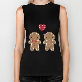 Cookie Cute Gingerbread Couple Biker Tank