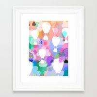 hot air balloons Framed Art Prints featuring Hot air balloons by Ingrid Castile