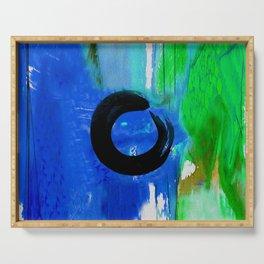 Enso Zen Circle No.6d by Kathy Morton Stanion Serving Tray