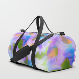 Bouquet in Blue and Pink 3 - enhanced and in blue white and green actually Duffle Bag