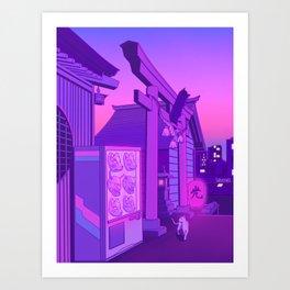Midnight Matsuri Art Print