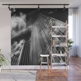 Towers and clouds Wall Mural