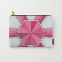 Hexagonal Pink Shape Geometric Shape Pattern Carry-All Pouch