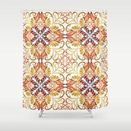 Fall Flourish Fabric Shower Curtain