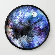 Winter Night Orchard Wall Clock