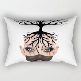 Tree Tribe girl Rectangular Pillow