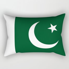The National Flag of Pakistan - Authentic Version Rectangular Pillow