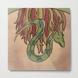 The Guardian Serpent Metal Print
