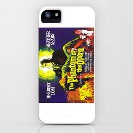 vintage horror movie poster iPhone Case