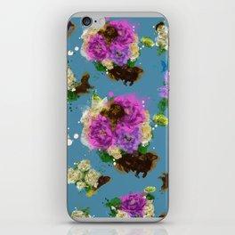 Floral Dachshund iPhone Skin