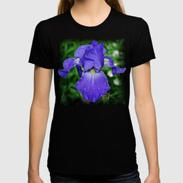 Cool blue-violet Iris 'Sea Master' T-shirt