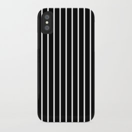 Vertical Lines (White/Black) iPhone Case