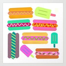 Junk Foodz Art Print
