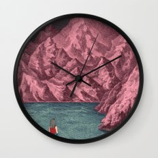 Swimming in your mind Wall Clock