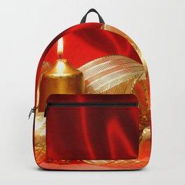Holiday Christmas Christmas Ornaments Candle Ribbo Backpack