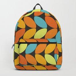 Retro 70s Color Palette Leaf Pattern II Backpack