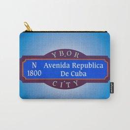 Ybor City Florida Street Sign Avenida Republica De Cuba Avenue of Cuba  Carry-All Pouch