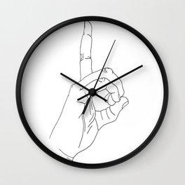 sign language D Wall Clock