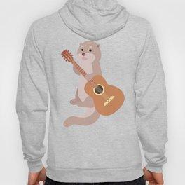 Otter Musician Guitar Guitarist Hoody