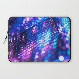 Blue & Violet Glitter Abstracts Laptop Sleeve