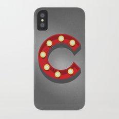 C - Theatre Marquee Letter iPhone X Slim Case
