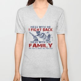 DON'T MESS MY FAMILY! Unisex V-Neck