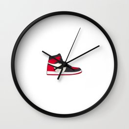 Jordan 1 Bred Toe  Wall Clock