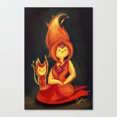 Flame Princess Canvas Print