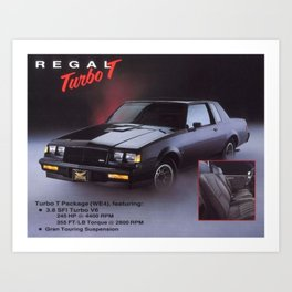 Grand National Regal T-type Turbo T Original Advertisement Art Print