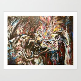 Love Dogs Art Print