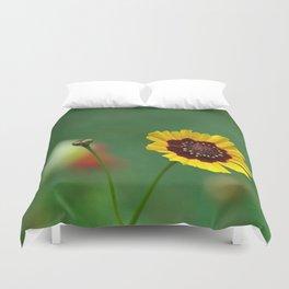 Coreopsis Flower Duvet Cover