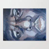 "biggie smalls Canvas Prints featuring ""Biggie Smalls"" by Original Art by Renteria"