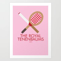 the royal tenenbaums Art Prints featuring The Royal Tenenbaums by Marcus Coleman