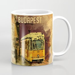Retro Tram 2 in Budapest Coffee Mug