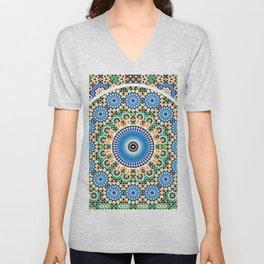 Moroccan Pattern Unisex V-Neck