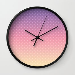 Lilac pink yellow Ombre . Wall Clock