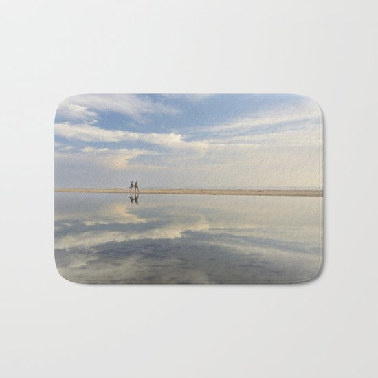 """Heaven walk"". Sea sunset Bath Mat"