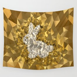 POLYNOID Bunny / Gold Edition Wall Tapestry