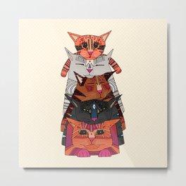 pile of cats Metal Print