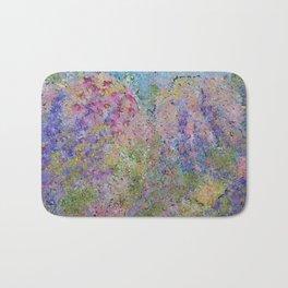 Spring Hydrangeas, Pastel Abstract, Modern Painting Bath Mat