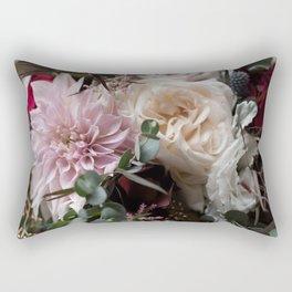 Large floral bouquet - Dahlia and Rose I Rectangular Pillow