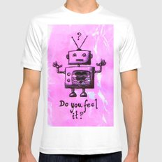 Do You Feel It? MEDIUM White Mens Fitted Tee