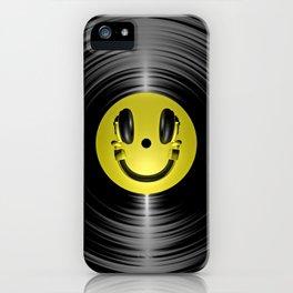 Vinyl headphone smiley iPhone Case