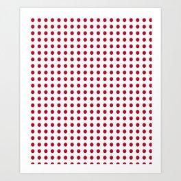 Abstract from the flag of japan – japanese,red,sun,asia,nippon,tokyo,edo,osaka,nagoya,ikebana,noh. Art Print