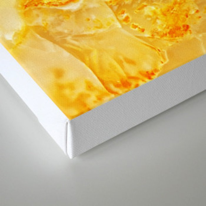 Yellow Onyx Marble Canvas Print